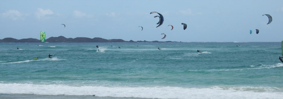 Kite surfing lessons are available nearby