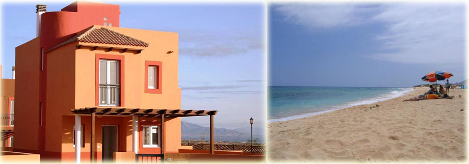 Our Villa in Fuerteventura and local beach